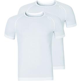 Odlo Active Cubic Light SS Crew Neck Shirt 2 Pack Herren white-snow white